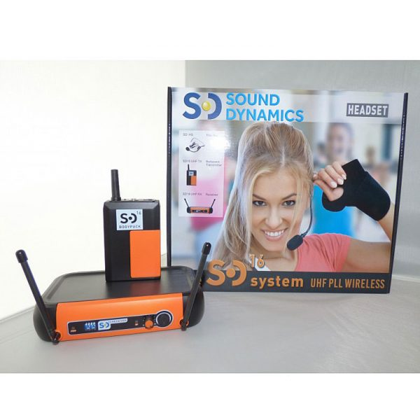 black_orange_SD16_UHF_headset_mic_system